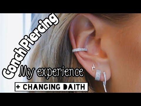 GETTING MY CONCH PIERCED! Friday the 13th Vlog + Daith change