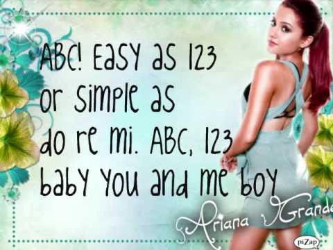 Ariana Grande ABC Lyrics