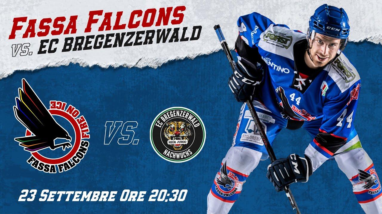 Download FASSA FALCONS VS. EC BREGENZERWALD    ALPS HOCKEY LEAGUE 21/22    23.09.2021