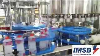Envasadora Rotativa c/Tampador para Álcool