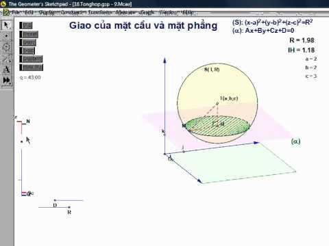 Giao của mặt cầu và mặt phẳng