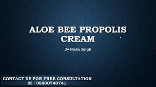 forever Aloe bee propolis cream  benefit for face pimple