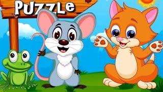 Пазлы для Самых Маленьких - Животные для Детей | Игра как Мультик для Детей