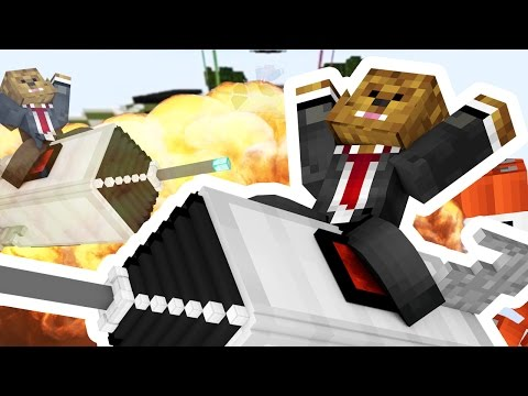 HUGE MISSILE EXPLOSION *EPIC DESTRUCTION* - Minecraft Missile Wars