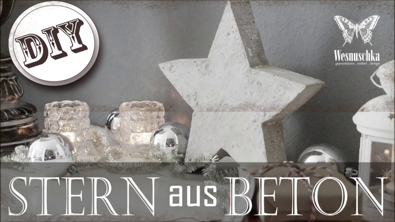 Beton Kerzenständer Diy Diy Christmas Decoration Star Of Concrete