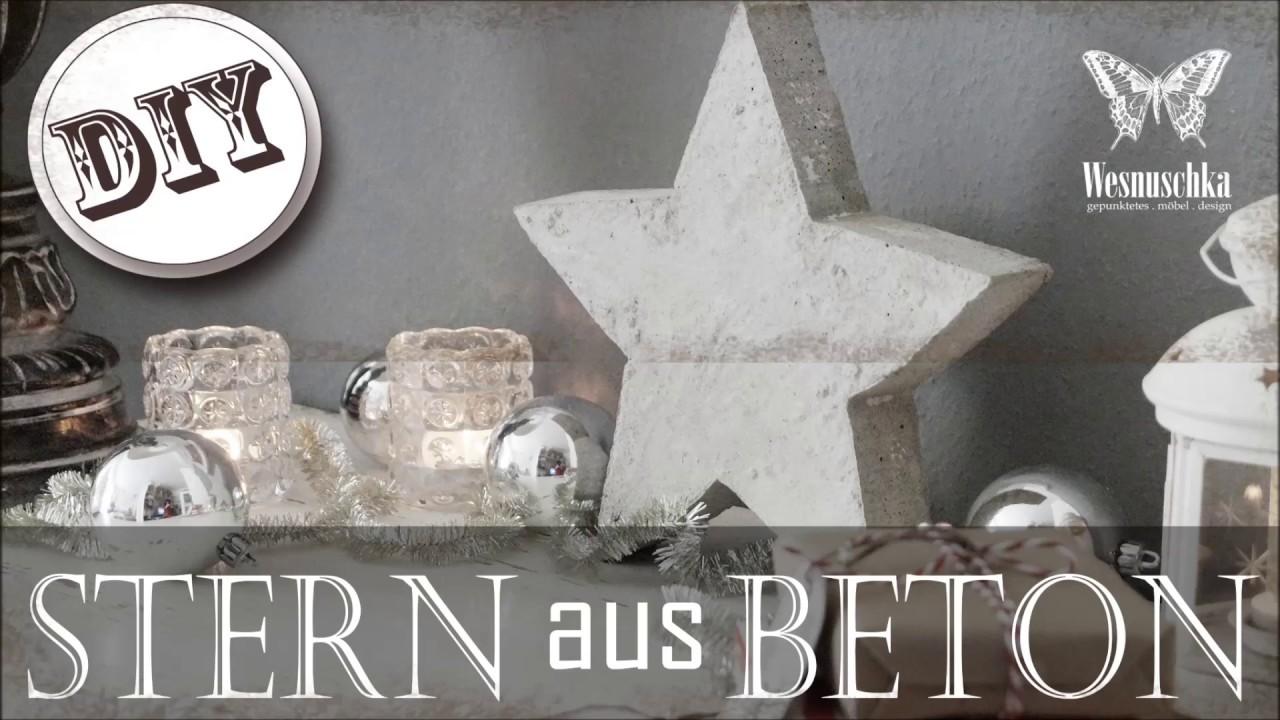 DIY : WEIHNACHTSDEKO STERN aus BETON | Christmas decoration STAR of ...