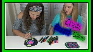 slime diy    chalk board slime    back to school    taylor and vanessa