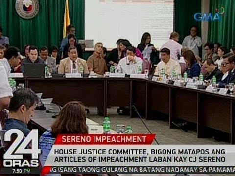 24 Oras: House Justice Committee, bigong matapos ang articles of impeachment vs. CJ Sereno