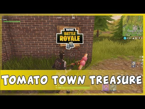 Fortnite Battle Royale Guide - How To Find Tomato Town Treasure (Season 4)