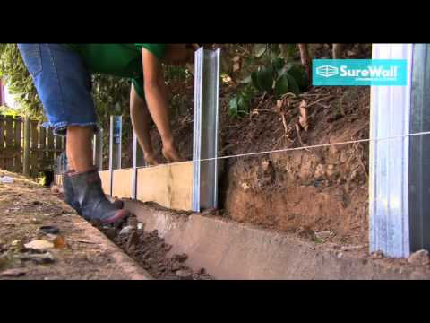 Surewall Retaining Wall Systems Youtube