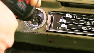 Replace the C10 truck ignition lock cylinder with NO key 1969 - 1972