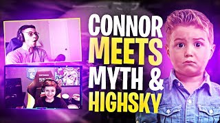 CONNOR MEETS MYTH AND HIGHSKY! HE EXPOSES THEM?! (Fortnite: Battle Royale)