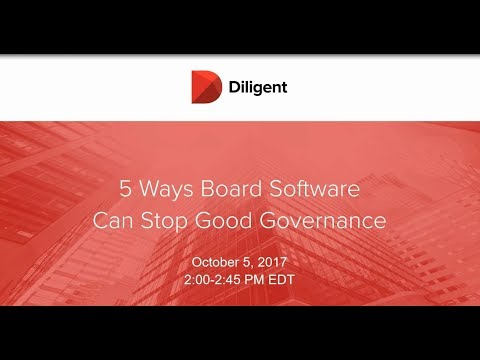 5 Ways Your Board Software Can Stop Good Governance