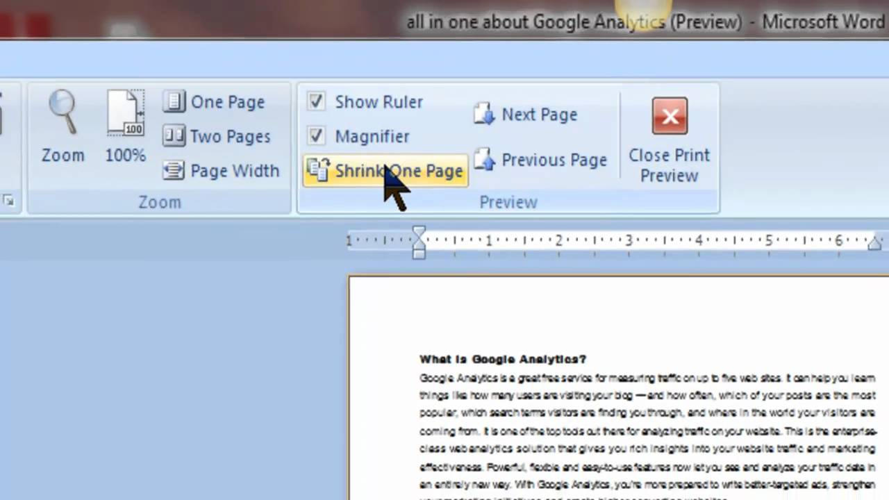 Page color doesnt print in word 2007 - Ms Word Print Preview Tutorial