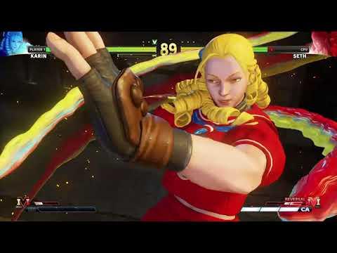 STREET FIGHTER V Karin vs Seth |