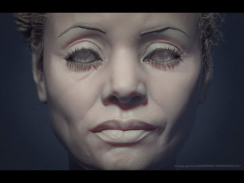 Sculpting portrait Thandie Newton Timelapse