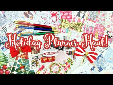Huge Holiday Planner Haul! Tons of Stickers, Accessories, and More!
