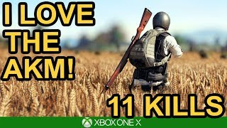 I LOVE THE AKM! 11 Kill Solo Win / PUBG Xbox One X
