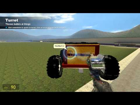 Gmod - How to make a car from scratch drive fly and shoot Pt 2
