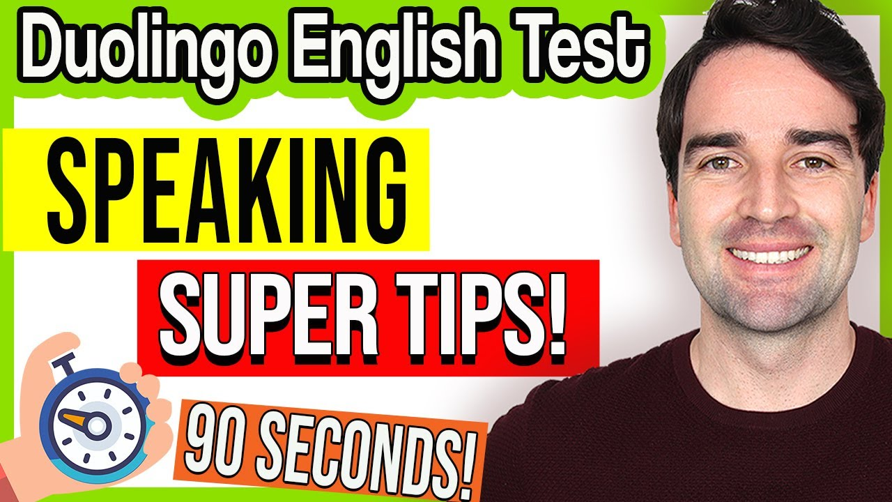 Duolingo English Test, Speaking for 90 Seconds | Super Tips and Practice Questions - Study for DET