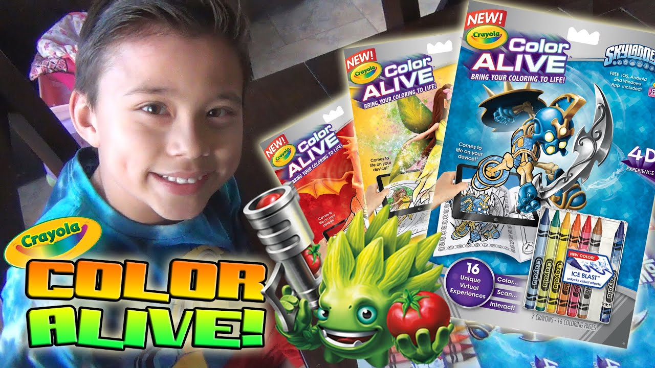 crayola color alive bring your coloring to life skylanders enchanted forest barbie youtube