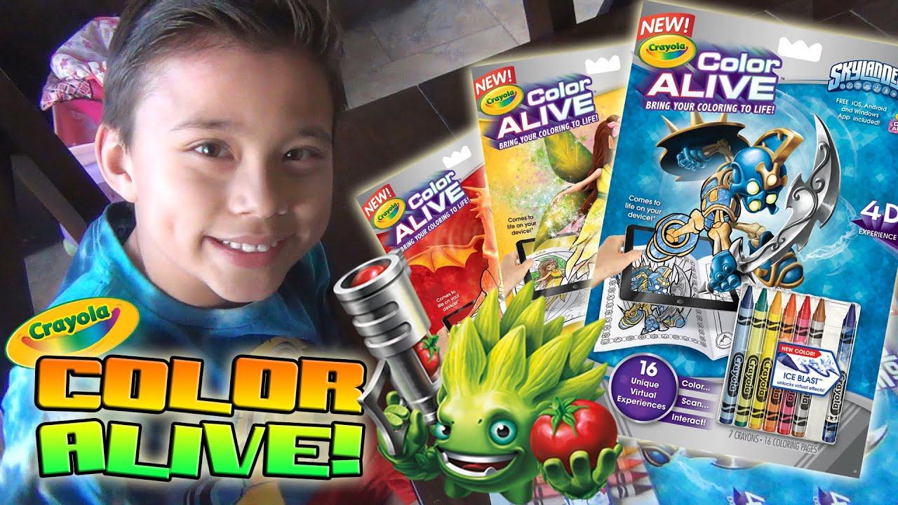 Crayola Color Alive Bring Your Coloring To Life Skylanders