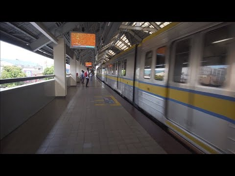 Philippines, Manila, LRT ride from Quirino to United Nations
