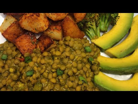 Simple Oil Free Curry Lentils | Jamaican style