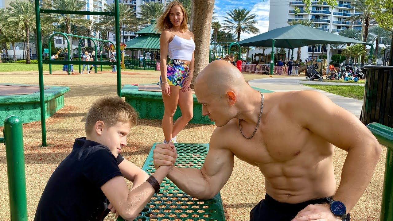 Download 10 Year Old Kid VS Bodybuilder Armwrestling Battle