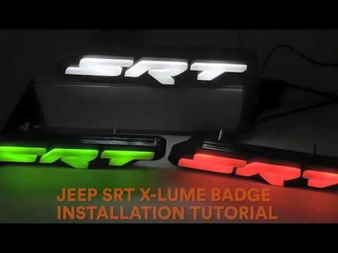X Lume Illuminated Jeep Srt Logo Installation Video Youtube