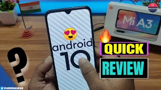 Mi A3, Android 10, What's New?, Quick Review, Hindi, by @ashishnayakone