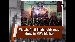 Watch: Amit Shah holds road show in MP's Maihar - Madhya Pradesh News