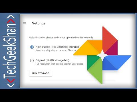Convert Existing Google Photos to High-Quality   Recover Storage