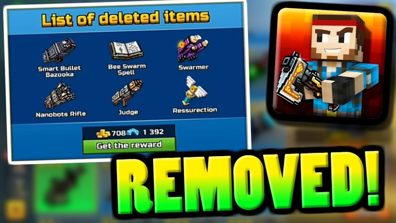 removed guns in pixel gun 3d