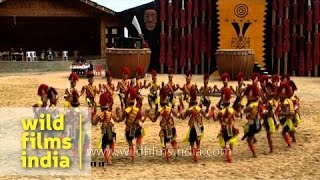 U-ha (Folk song and dance) by Pochury tribe - Hornbill Festival