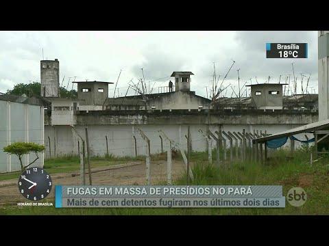 Mais de cem detentos fugiram de presídios no PA nas últimas 48 horas   SBT Brasil (27/06/18)