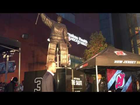 Devils unveil Martin Brodeur's statue