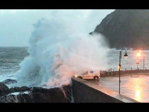 Storm Eleanor, Ilfracombe, Devon, UK
