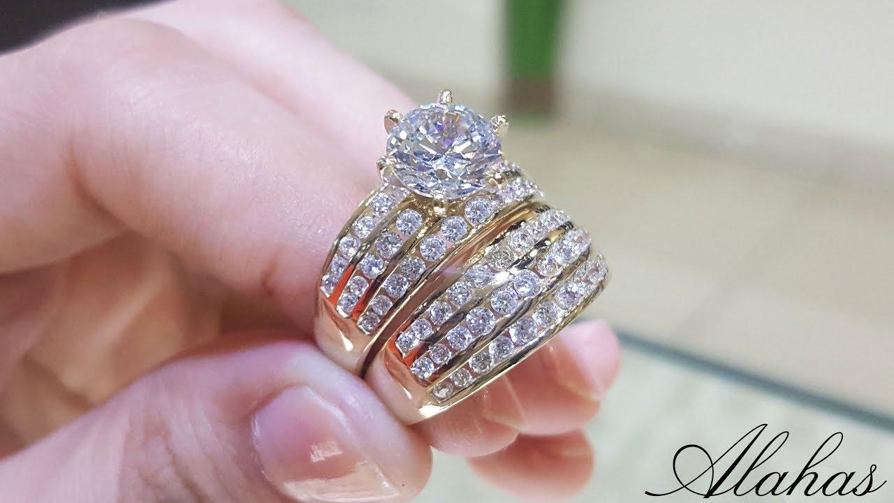 a25aa6c888c3 Anillos de boda oro 14k - Joyería Alahas (4K Ultra HD) - Gold wedding rings