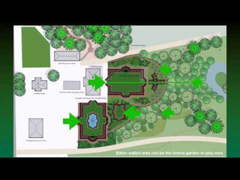 English Style Manor House Garden Design