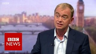 Tim Farron: 'If Labour won't oppose the government, Lib Dems will' - BBC News