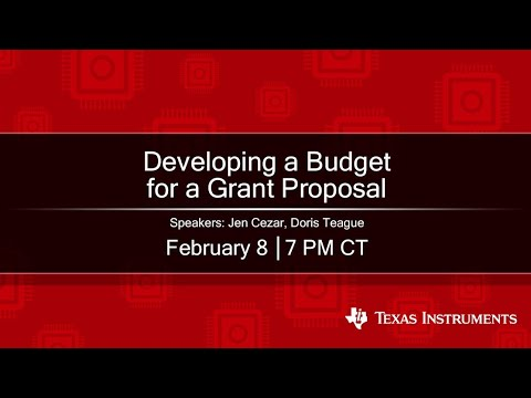 Webinar: Developing A Budget For A Grant Proposal