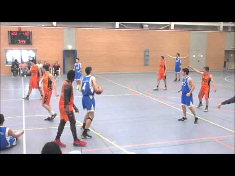 Aitor Lopez; Loiola vs Valencia Basket #4 blue shirt - GloBall Alliance