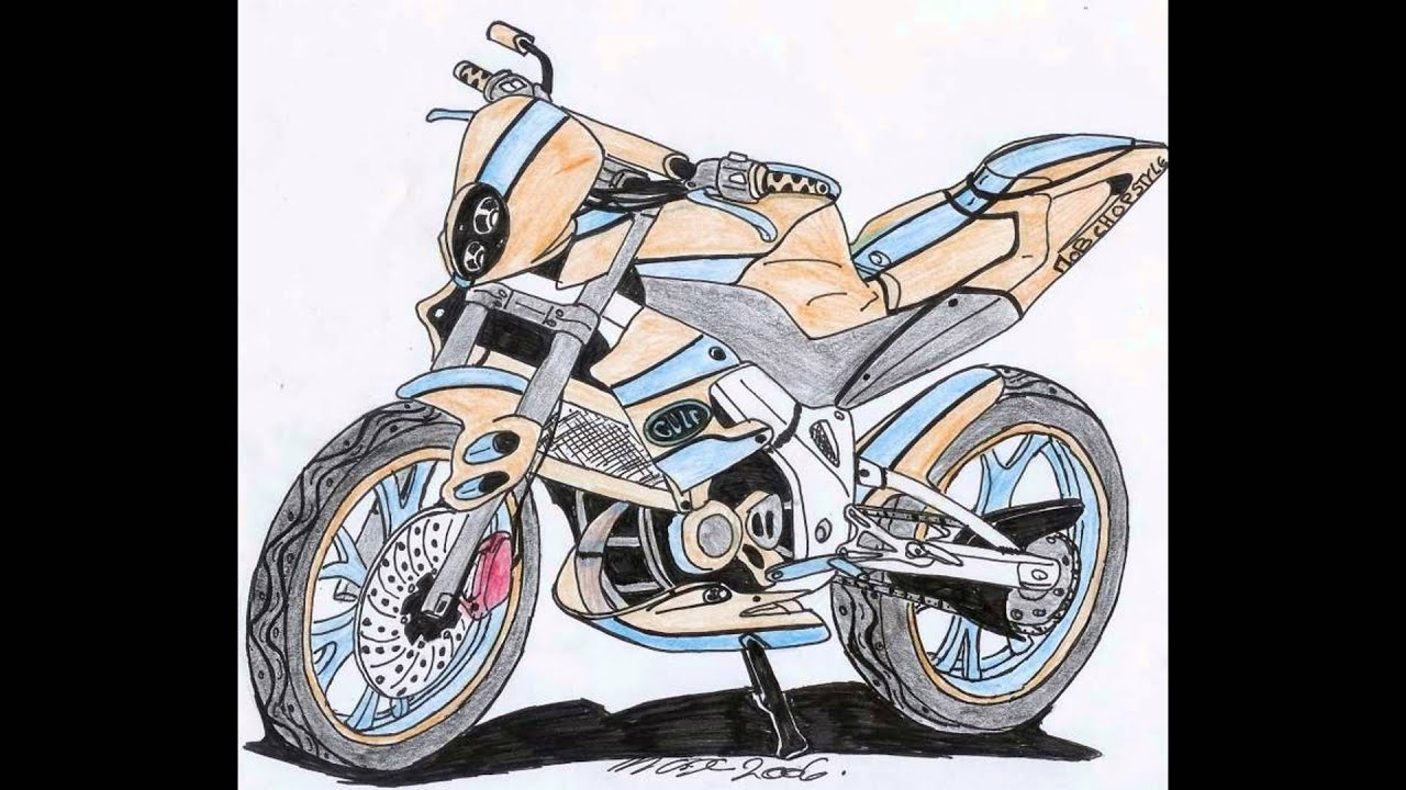 Dessin de moto youtube - Dessin de moto cross ...