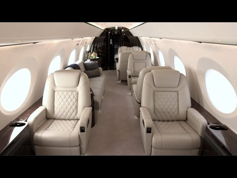 Gulfstream G500 with Full Production Interior Debuts at 2016 NBAA Show – AINtv