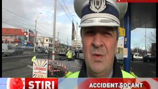 Accident cumplit lângă o benzinărie din județul Bacău