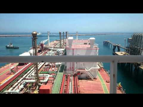 LNG carrier berthing