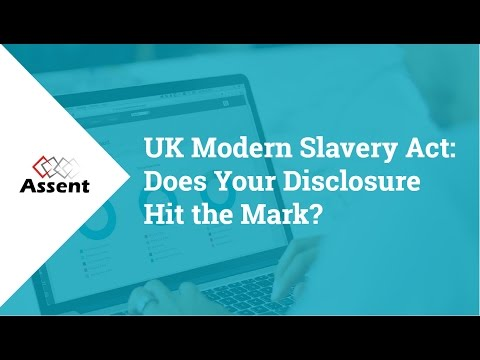[Webinar] UK Modern Slavery Act: Does Your Disclosure Hit the Mark?