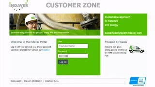 Get a feel for the Indaver Customer Zone!