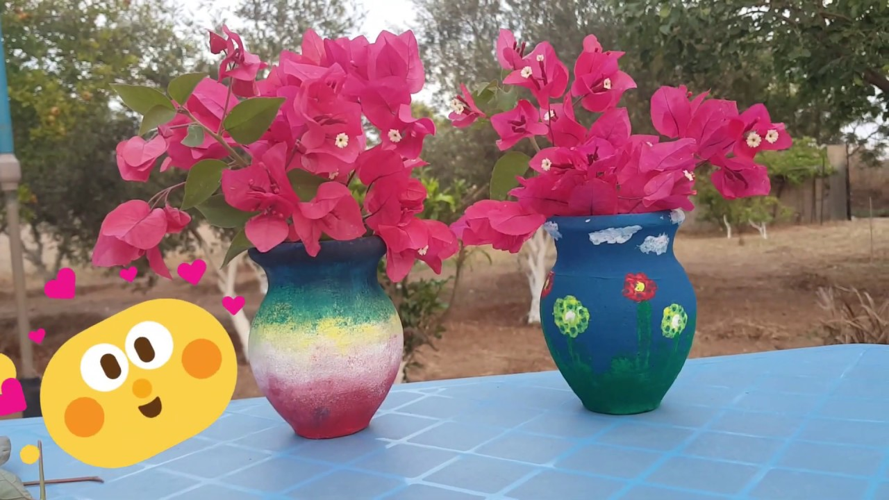Tow Easy Drawing On Pottery Kids Art Crafts أفكارسهلة رسم على الفخار للأطفال Youtube